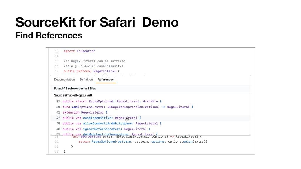 SourceKit for Safari Demo Find References