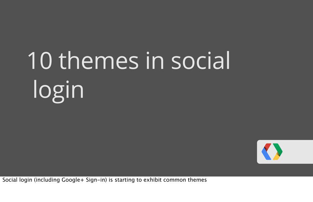 10 themes in social login Social login (includi...