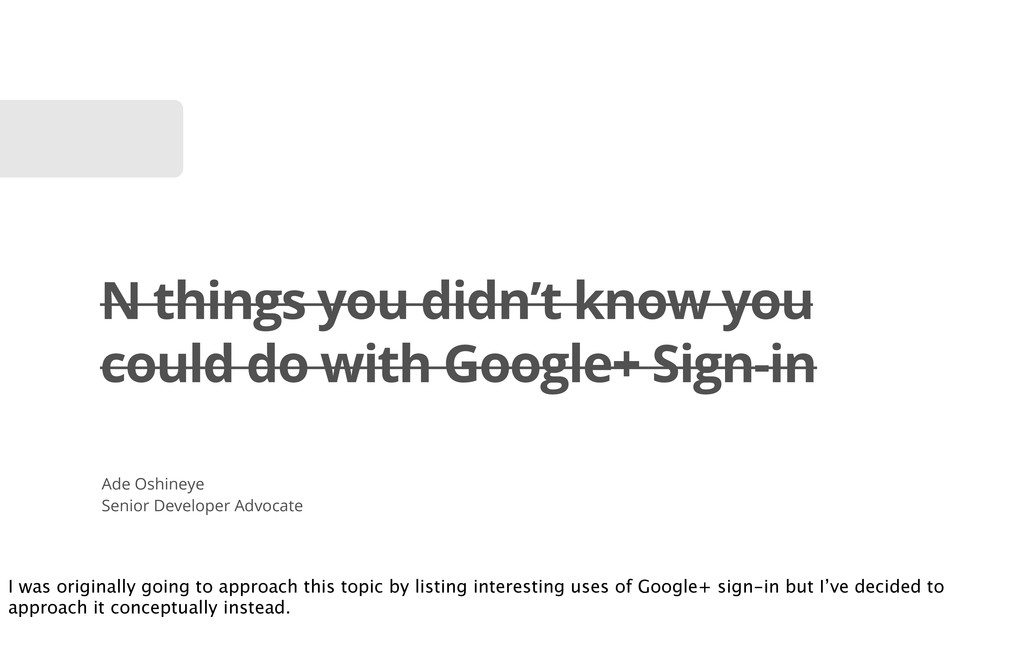 N things you didn't know you could do with Goog...