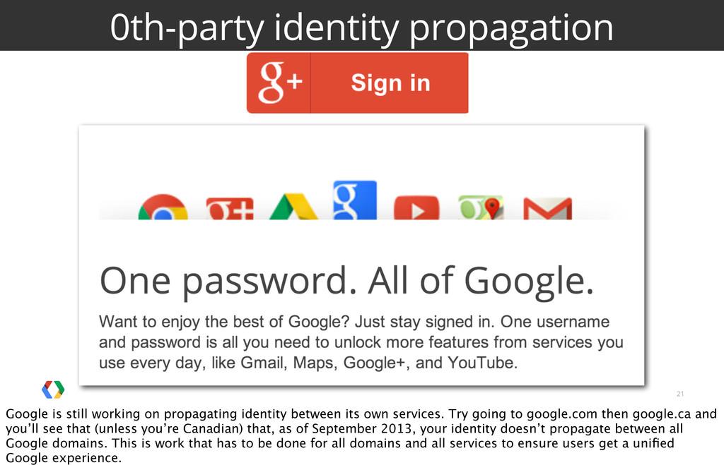21 0th-party identity propagation Google is sti...