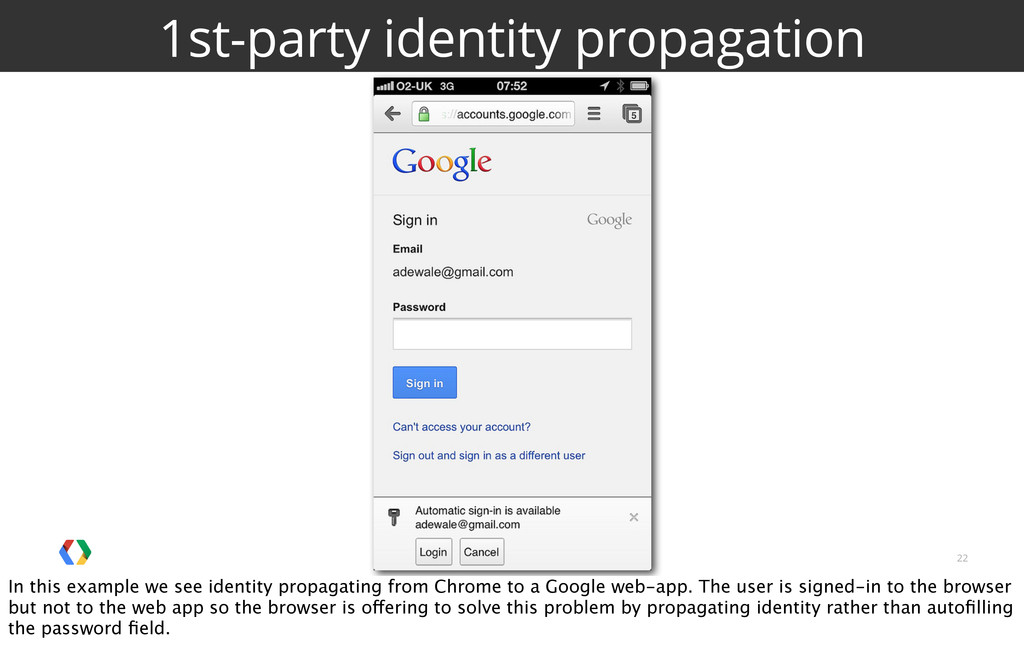 22 1st-party identity propagation In this examp...