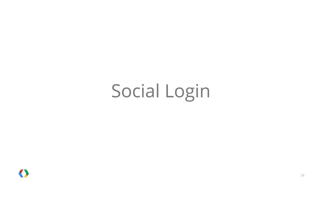 26 Social Login