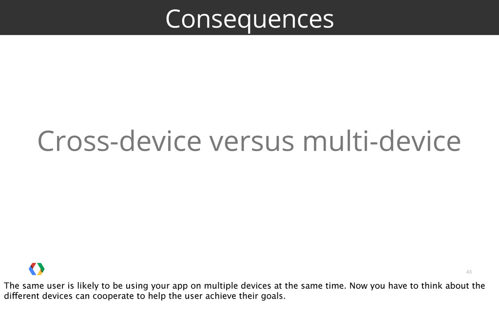 43 Consequences Cross-device versus multi-devic...