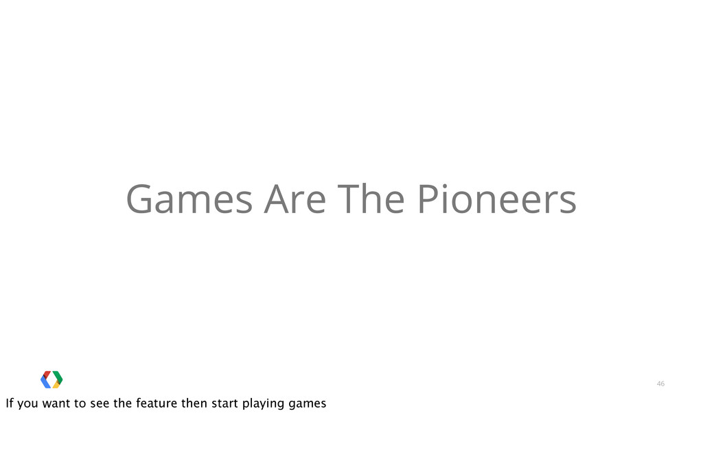46 Games Are The Pioneers If you want to see th...
