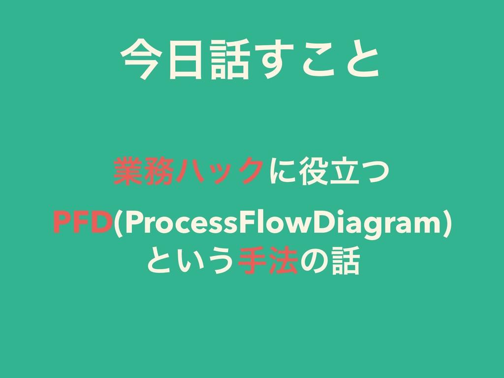 ۀϋοΫʹཱͭ PFD(ProcessFlowDiagram) ͱ͍͏ख๏ͷ ࠓ͢͜ͱ