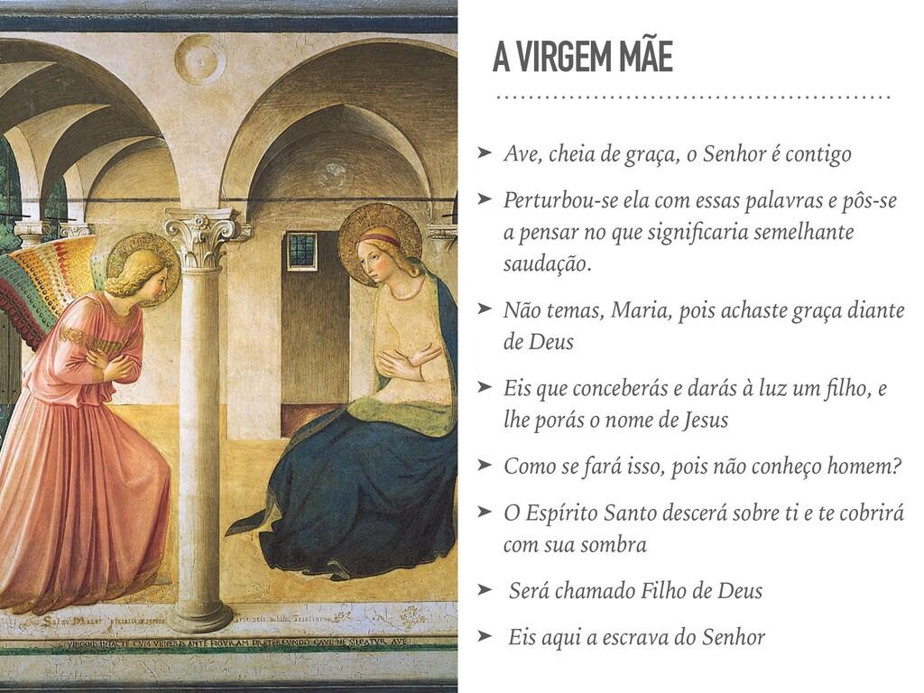 A VIRGEM MÃE ➤ Ave, cheia de graça, o Senhor é ...