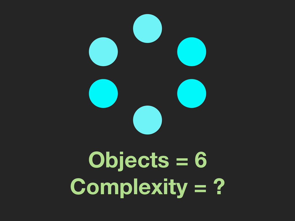 Objects = 6 Complexity = ?
