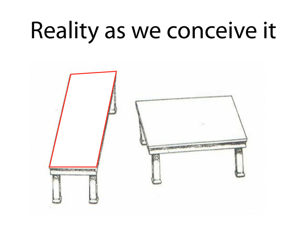 Reality as we conceive it
