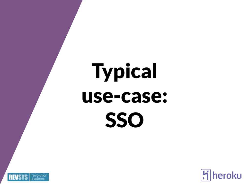 Typical use-case: SSO