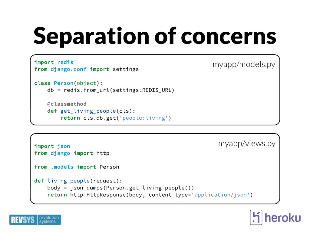 Separation of concerns import json from django ...