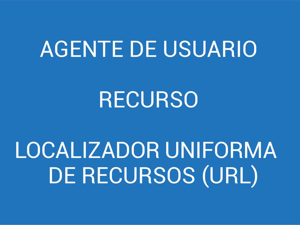 AGENTE DE USUARIO RECURSO LOCALIZADOR UNIFORMA ...