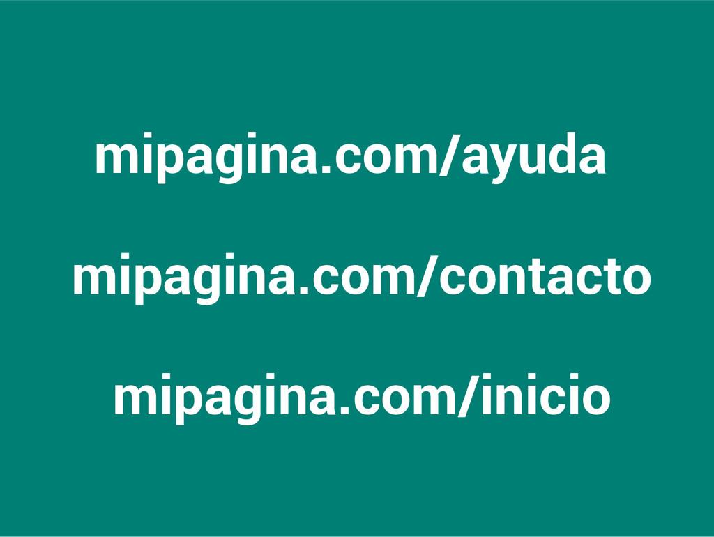 mipagina.com/ayuda mipagina.com/contacto mipagi...