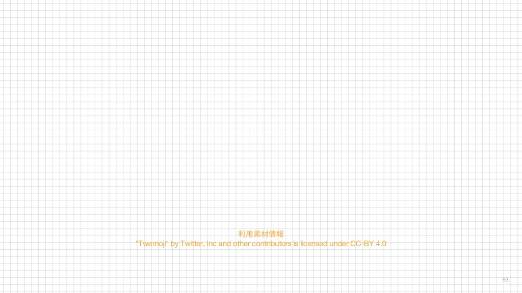 """93 利用素材情報 """"Twemoji"""" by Twitter, Inc and other c..."""