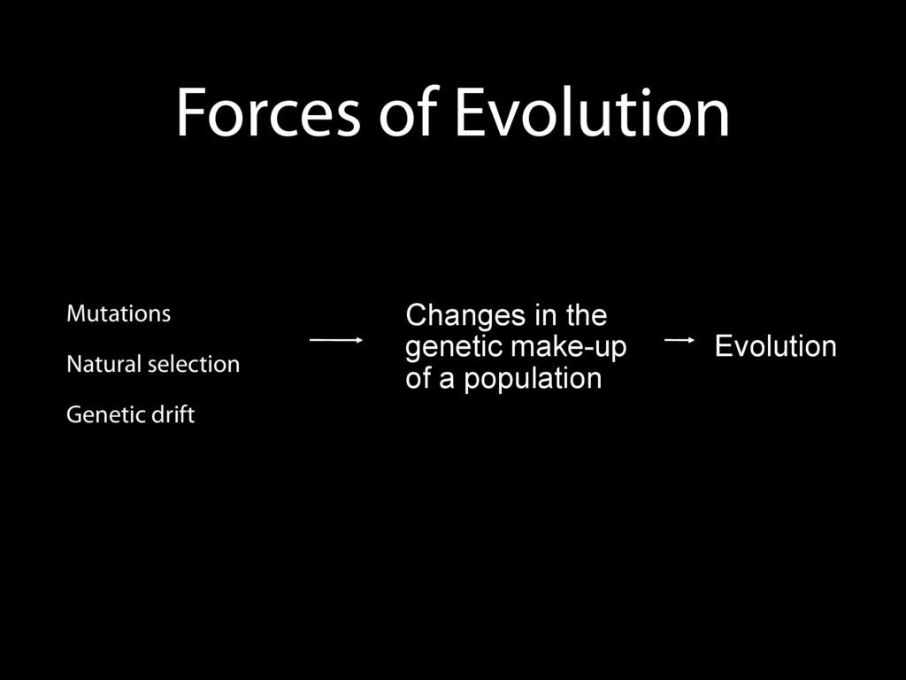 Forces of Evolution 1. Mutations 2. Natural sel...
