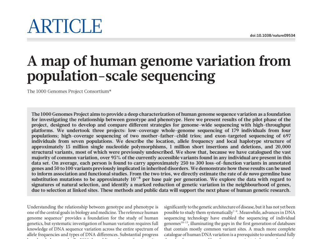 ARTICLE doi:10.1038/nature09534 A map of human ...
