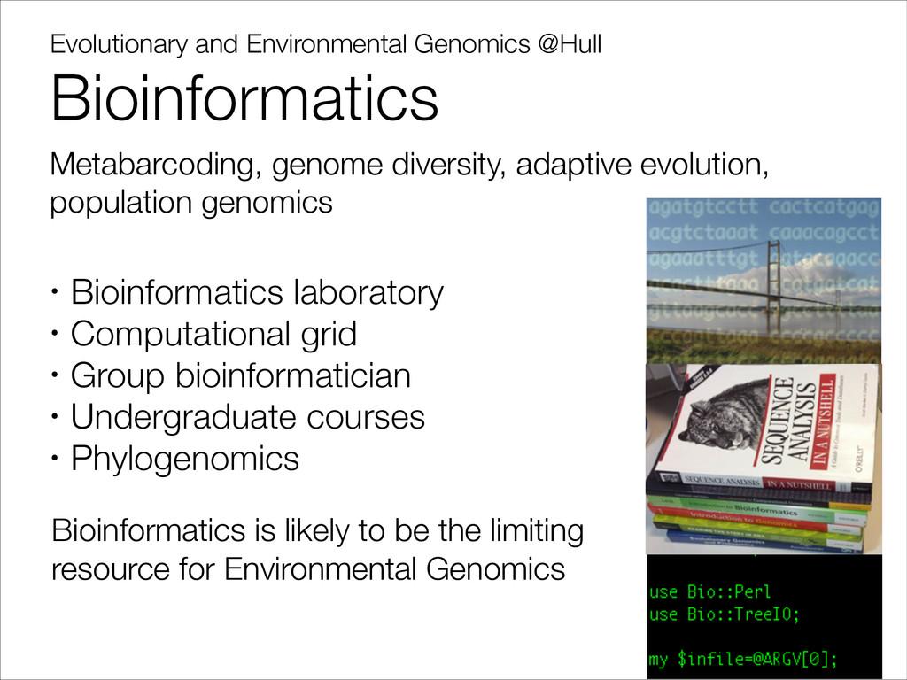 Evolutionary and Environmental Genomics @Hull B...
