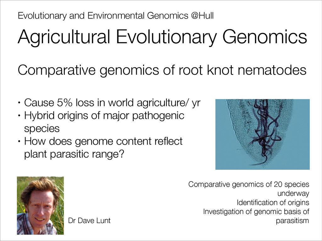 Evolutionary and Environmental Genomics @Hull A...