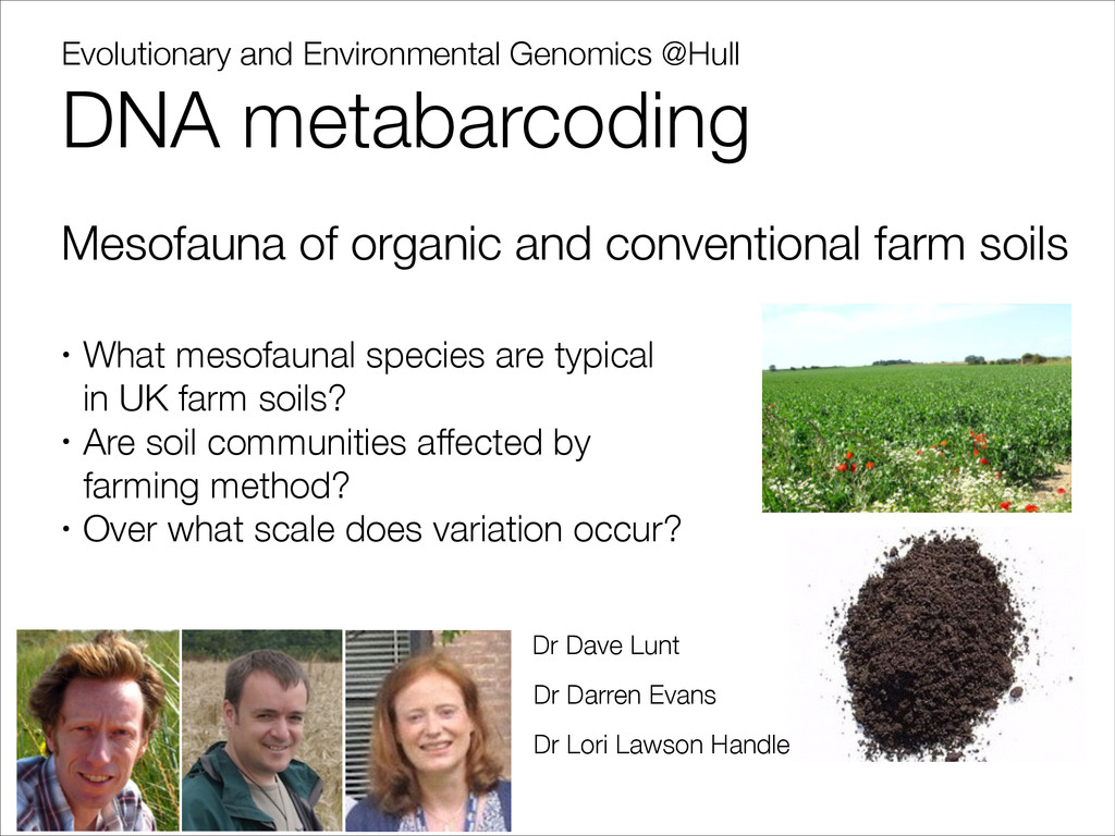 Evolutionary and Environmental Genomics @Hull D...