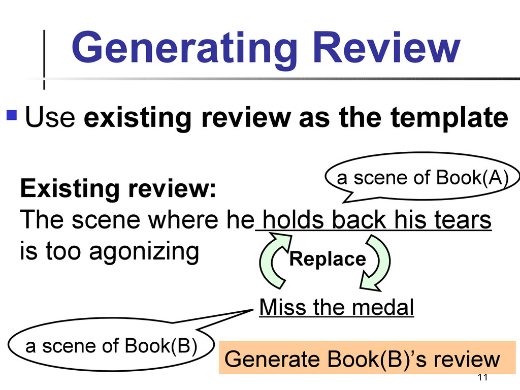 11 Generating Review  Use existing review as t...