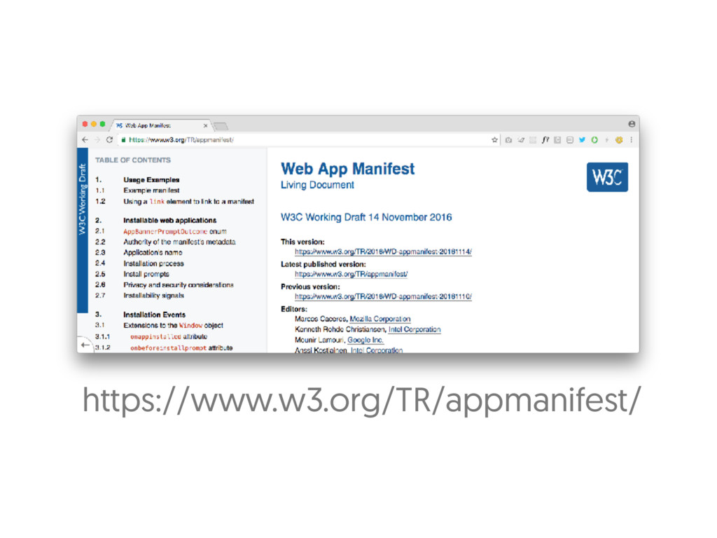 https://www.w3.org/TR/appmanifest/