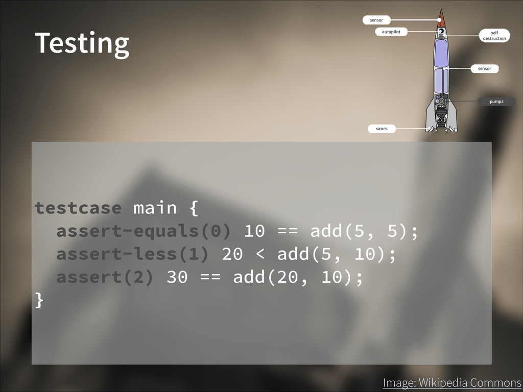 Image: Wikipedia Commons Testing testcase main ...