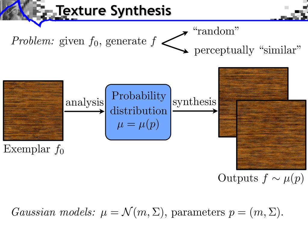 analysis synthesis Probability distribution µ =...