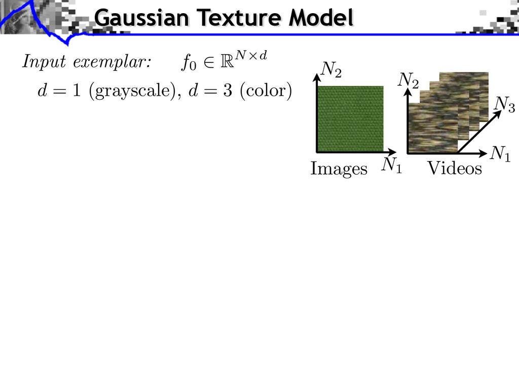 Input exemplar: d = 1 (grayscale), d = 3 (color...