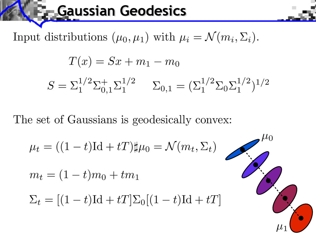 The set of Gaussians is geodesically convex: µt...