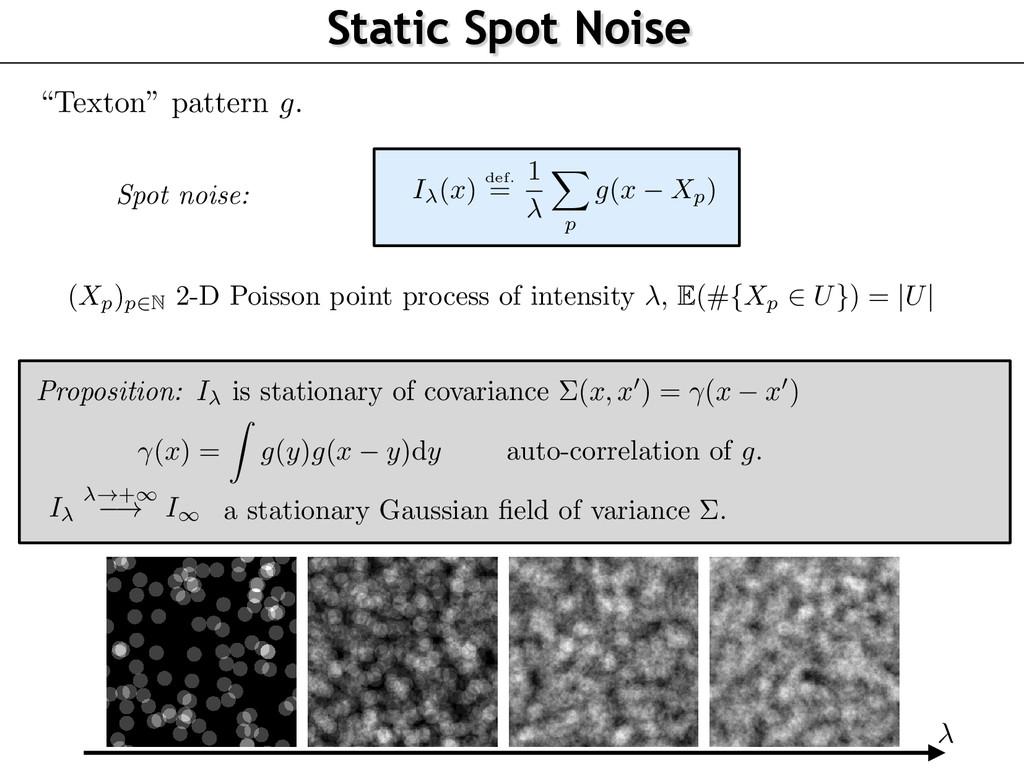"""Static Spot Noise """"Texton"""" pattern g . ( Xp)p2N..."""