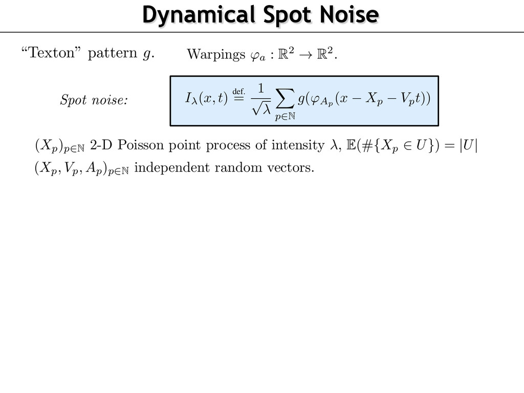 Dynamical Spot Noise static micro-textures [5] ...