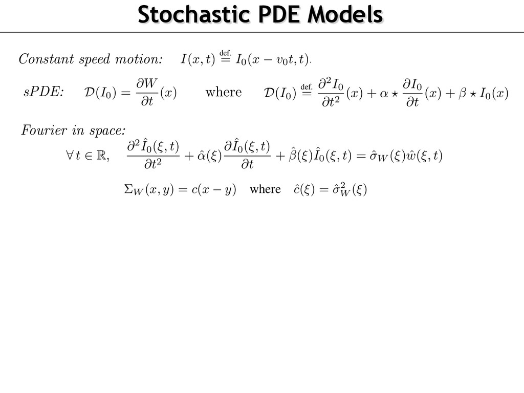Stochastic PDE Models Dynamic Textures as Solut...