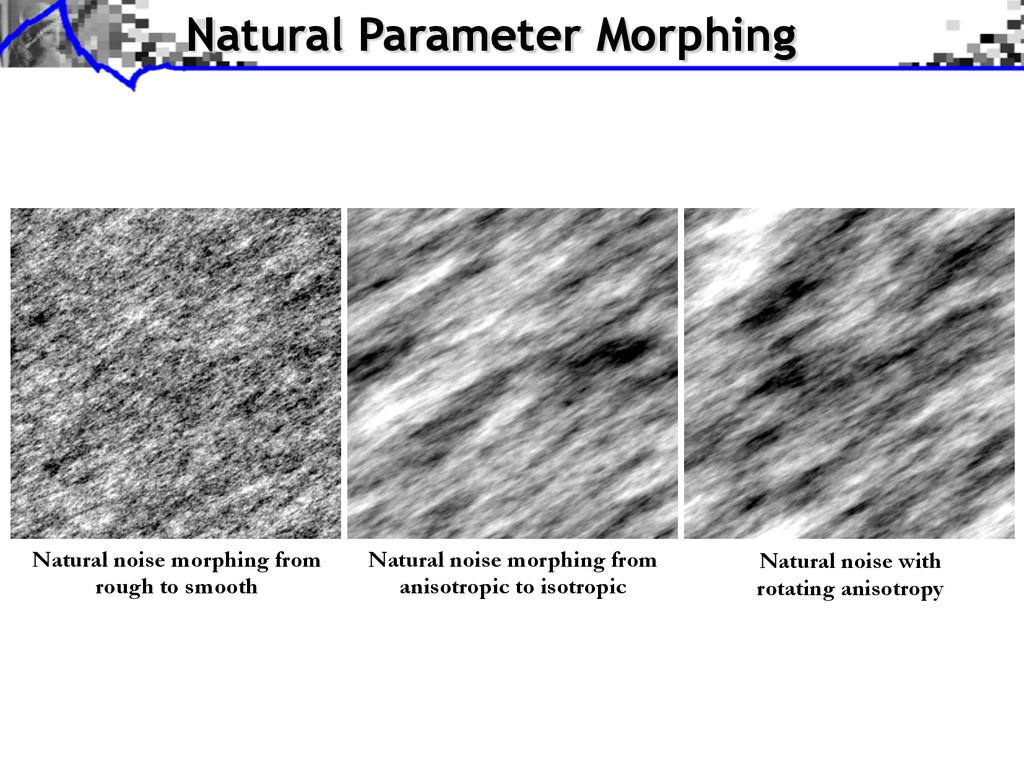 Natural Parameter Morphing Natural noise morphi...