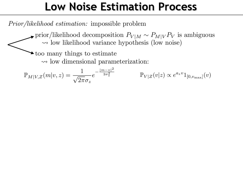 Low Noise Estimation Process omputed from some ...