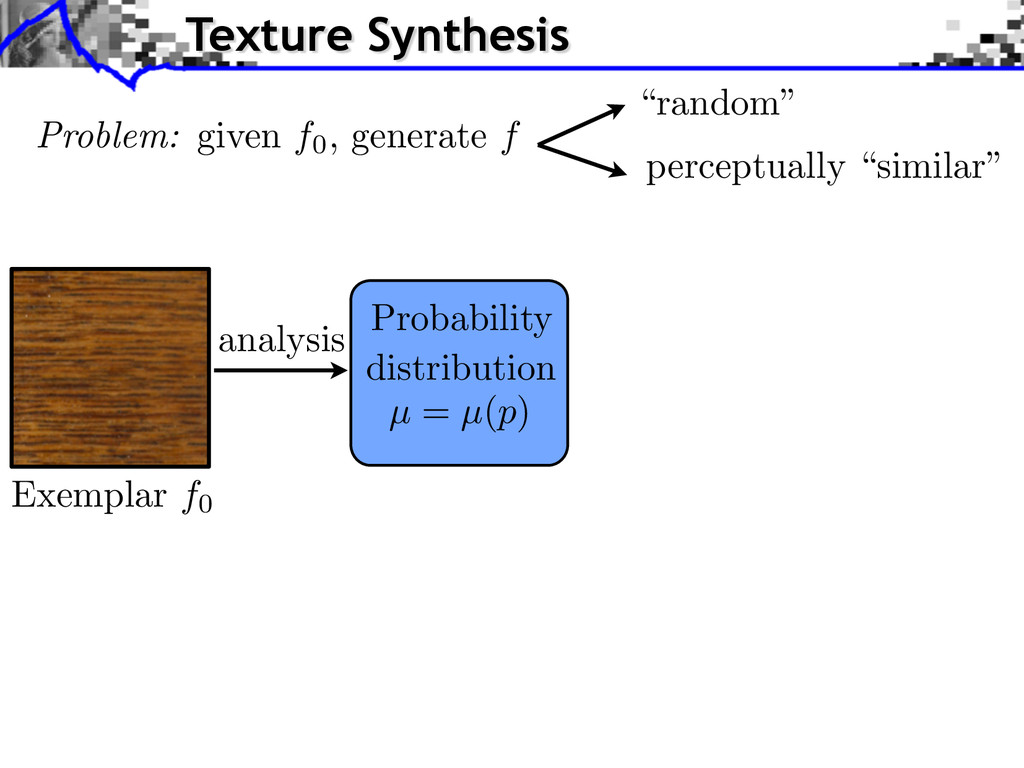 analysis Probability distribution µ = µ(p) Exem...