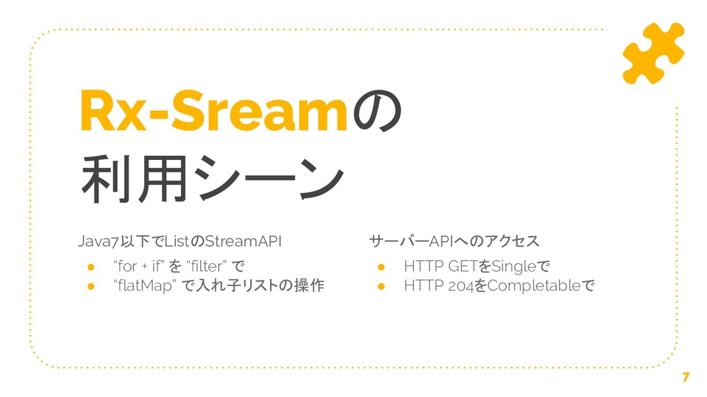 "Java7以下でListのStreamAPI ● ""for + if"" を ""filter"" ..."