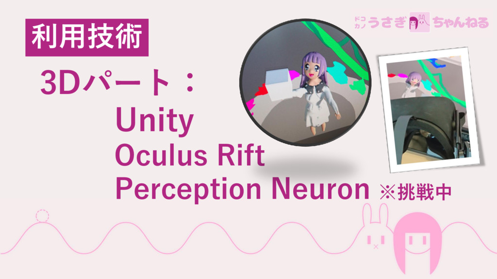 3Dパート: Unity Oculus Rift Perception Neuron ※挑戦中...