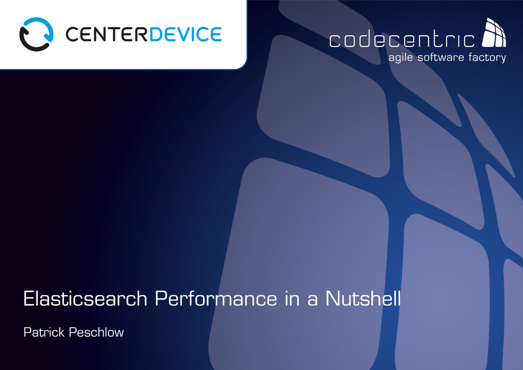 codecentric AG Patrick Peschlow Elasticsearch P...