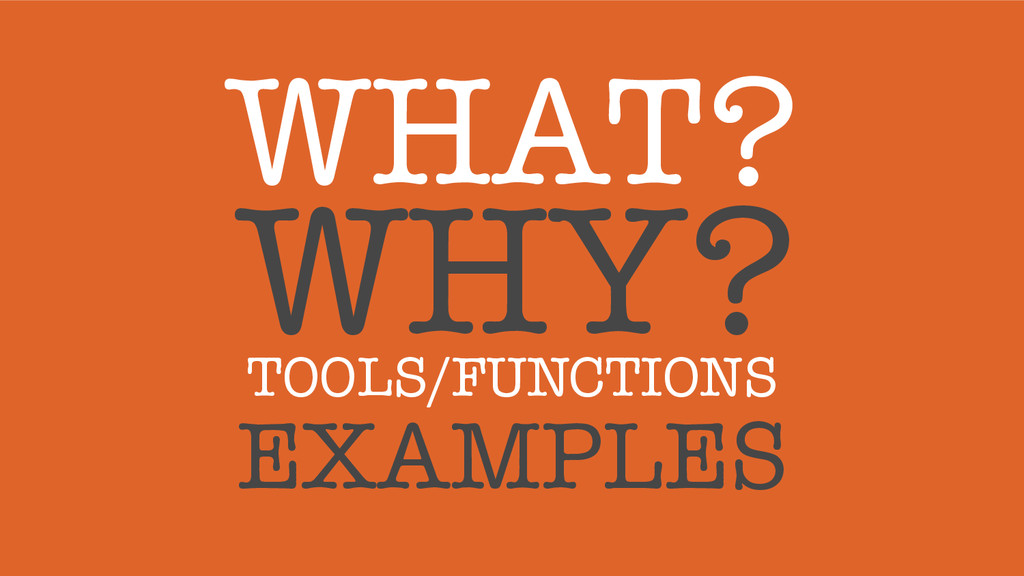 WHAT?