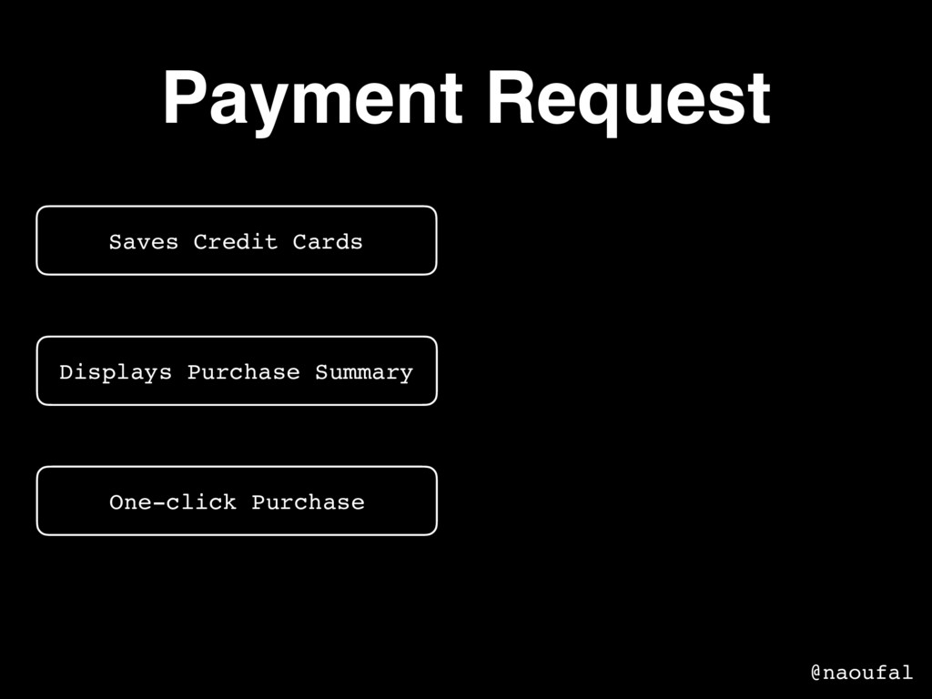 Payment Request Saves Credit Cards Displays Pur...