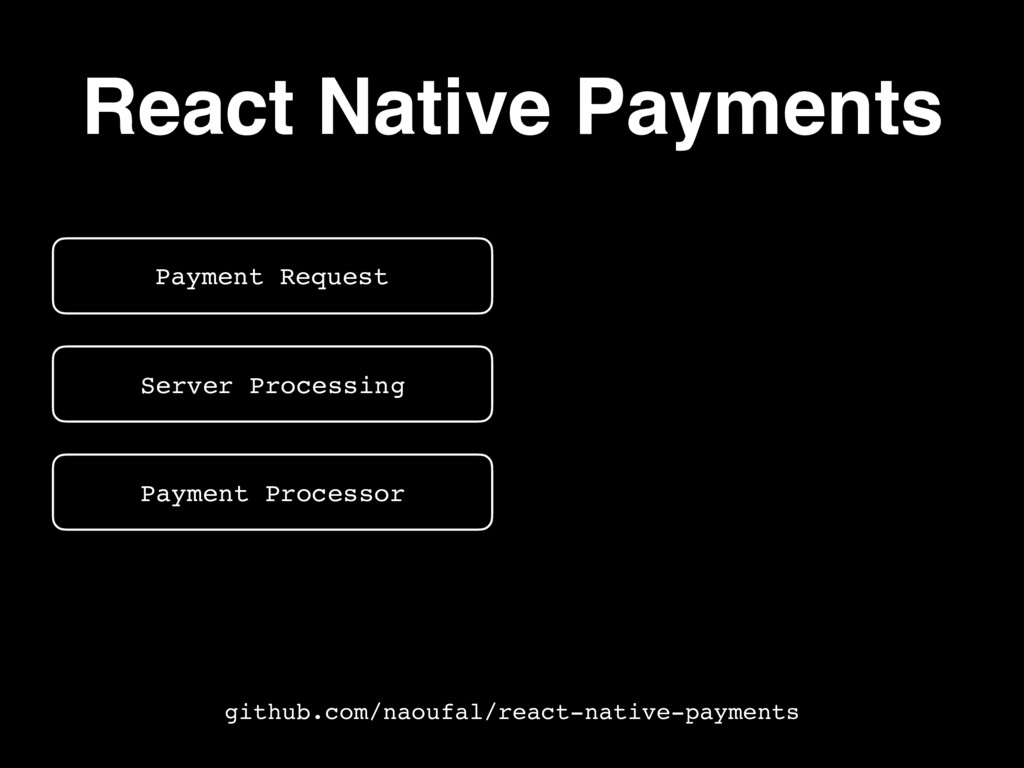 React Native Payments Payment Request Server Pr...