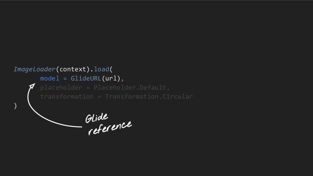 ImageLoader(context).load( model = GlideURL(url...