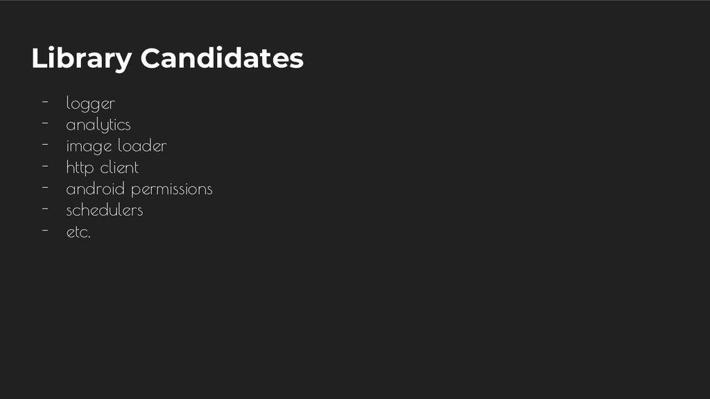 Library Candidates - logger - analytics - image...