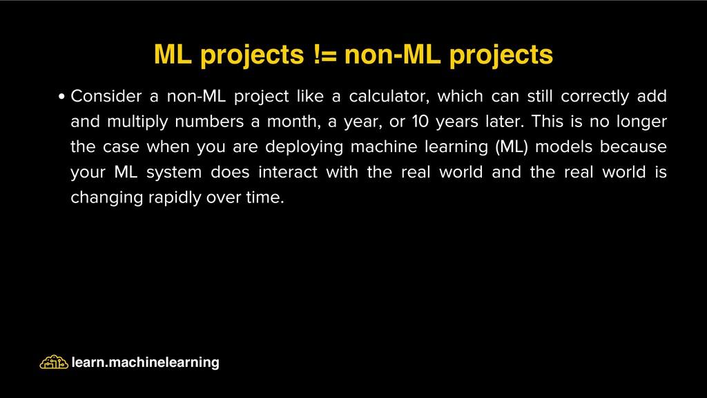 Consider a non-ML project like a calculator, wh...