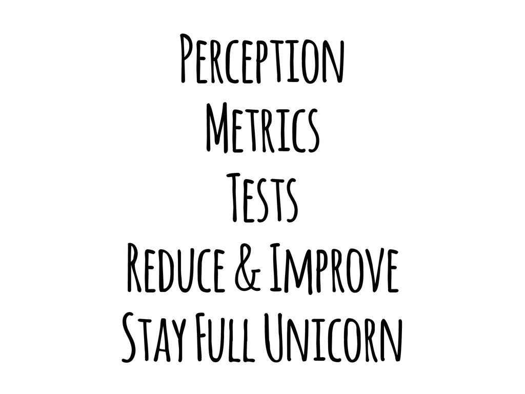 Perception Metrics Tests Reduce & Improve Stay ...