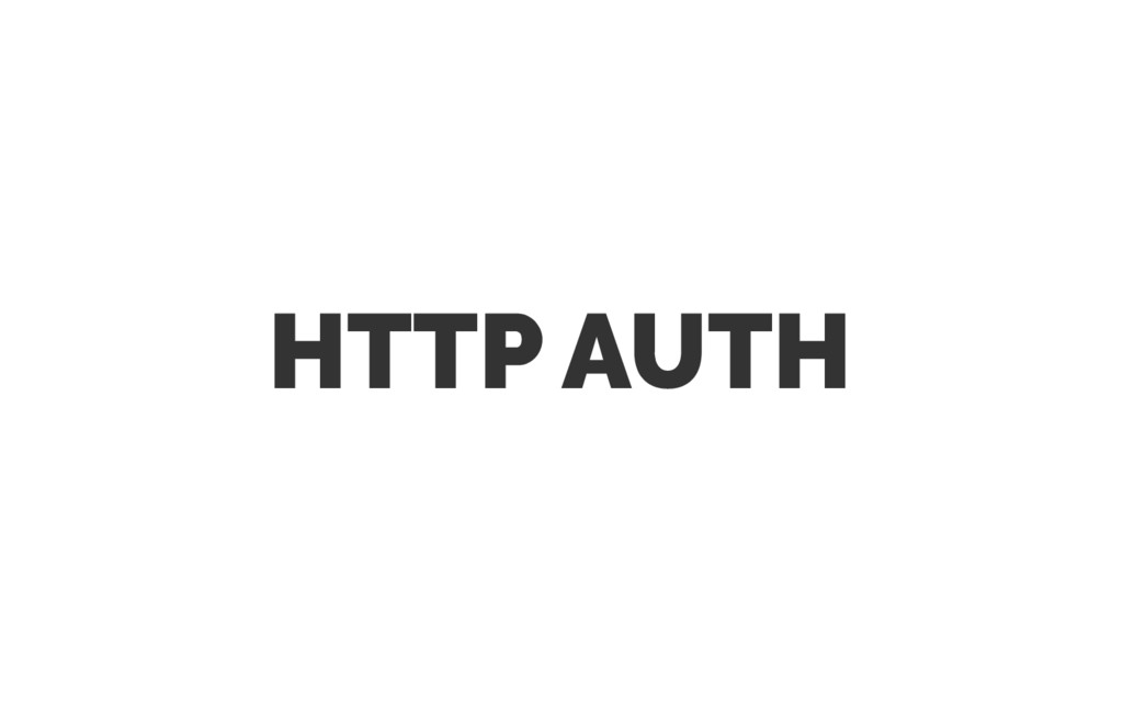 HTTP AUTH