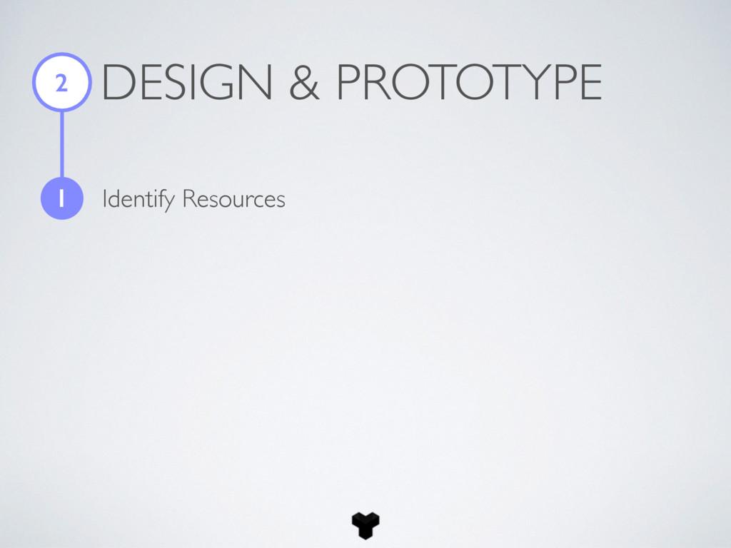 DESIGN & PROTOTYPE 2 1 Identify Resources