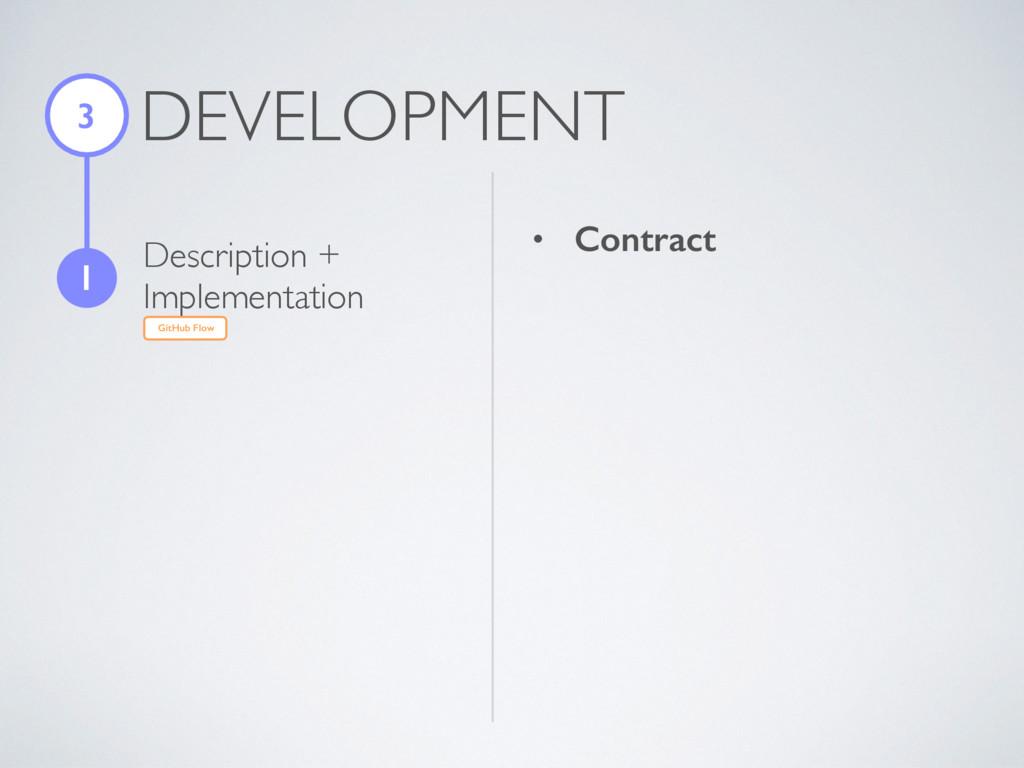 DEVELOPMENT 3 1 Description + Implementation Gi...