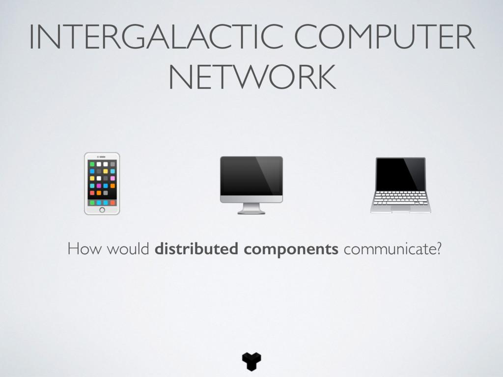 INTERGALACTIC COMPUTER NETWORK How would distri...