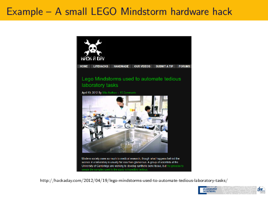 Example – A small LEGO Mindstorm hardware hack ...