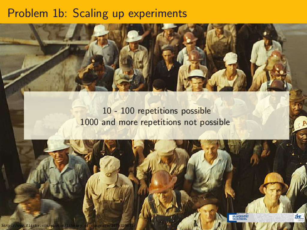 Problem 1b: Scaling up experiments 10 - 100 rep...